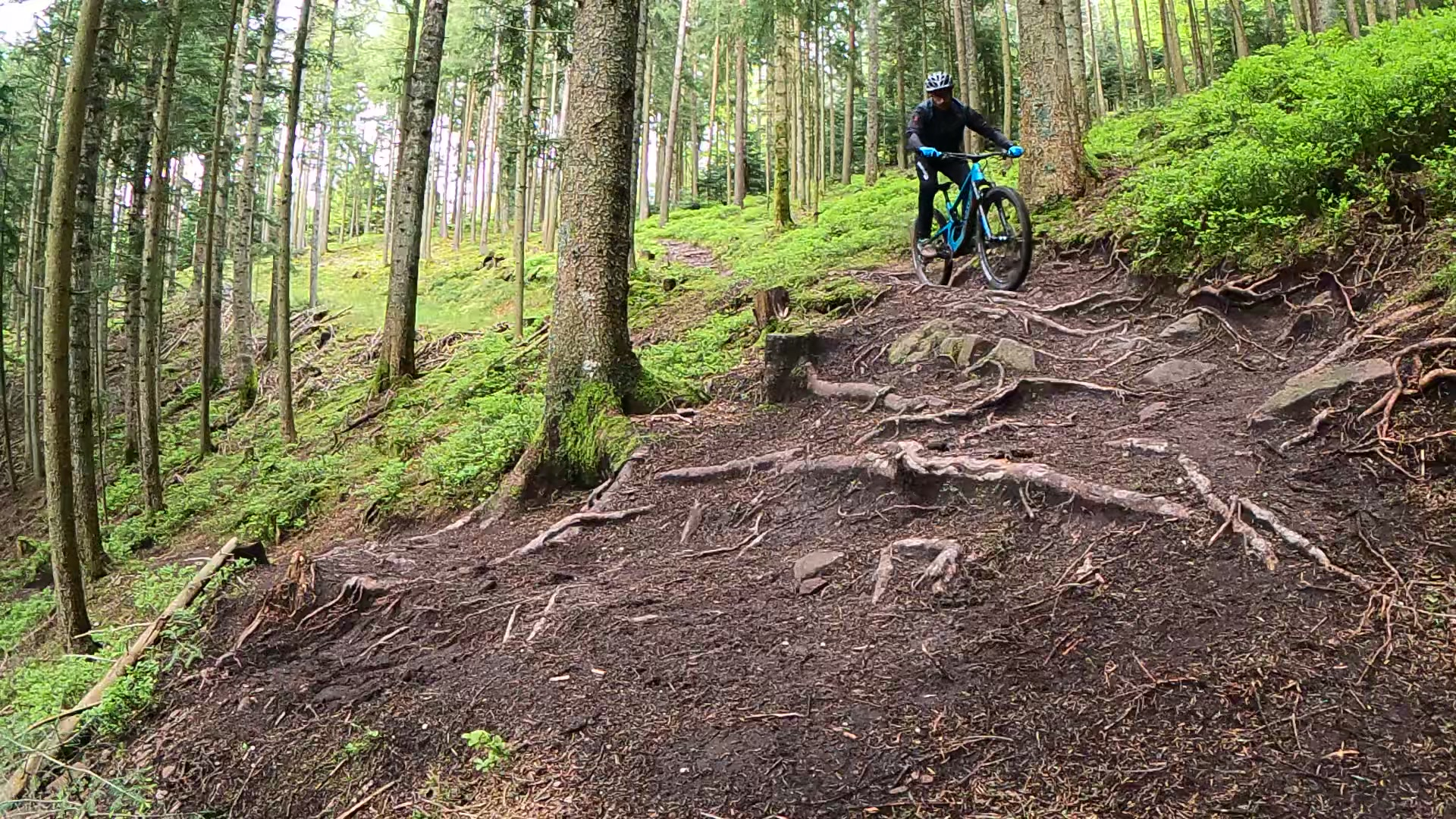 Anfahrt-Kurve-Trail