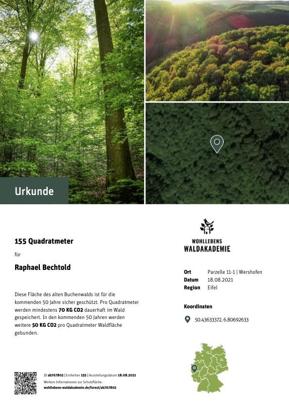 Urkunde-Wald-Schützen